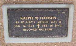 Ralph W Hansen