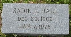 Sadie L. <I>Huff</I> Hall