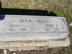 Mary A <I>Anderson</I> Marshall