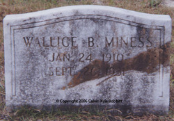 Wallice B. Miness