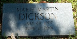 Georgia Marie <I>Jack Martin</I> Dickson