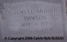 Jewell <I>Moore</I> Dawson