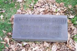 Rebecca <I>Coffinberry</I> Hazlett