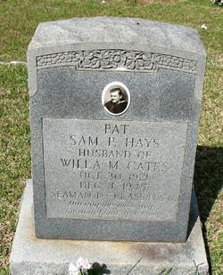"""Sam P. """"Pat"""" Hays"""