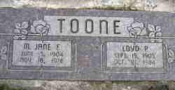 Minnie Jane <I>Fisher</I> Toone