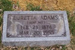 """Loretta """"Aunt Ret"""" Adams"""