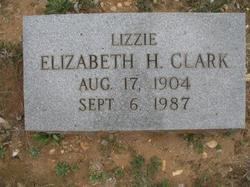 "Elizabeth Hix ""Lizzie"" <I>Howe</I> Clark"