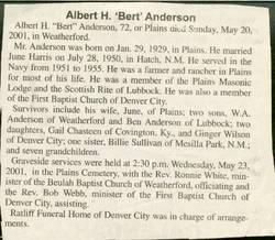 AlbertBert Herman Anderson