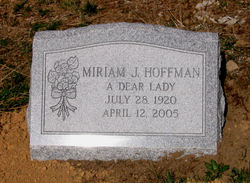 Miriam Janet <I>Hilts</I> Hoffman