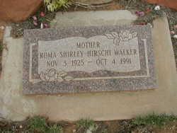 Roma Shirley <I>Hirschi</I> Walker