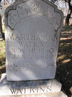 Martha Ann <I>Welch</I> Watkins