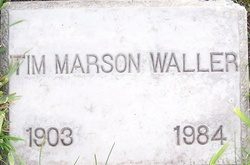 tim marson waller 1903 1984 find a grave memorial