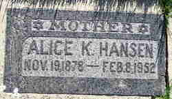 Alice <I>King</I> Hansen