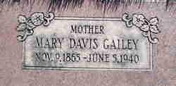 Mary Elizabeth <I>Davis</I> Gailey