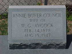 Annie Boyer <I>Council</I> Aycock
