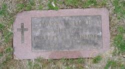 Mary M <I>Lord</I> Schneider