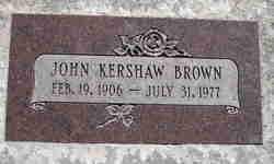 John Kershaw Brown