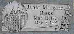 Janet Margaret <I>Jones</I> Ross