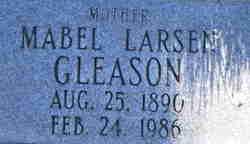 Mabel Vivian <I>Larsen</I> Gleason