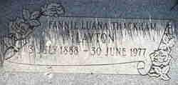 Fannie Luana <I>Thackham</I> Layton