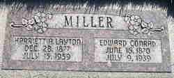 """Harriett Ann """"Hattie"""" <I>Layton</I> Miller"""