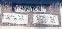 "Orval Smith ""Bus"" Morton"