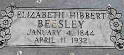 Elizabeth <I>Hibbert</I> Beesley