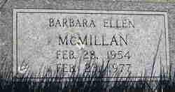 Barbara Ellen Mcmillan