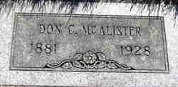 Don Cameron McAlister
