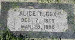 Alice <I>Thornley</I> Cox