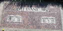 Emma Lydia <I>Foxley</I> Evans