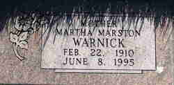 Martha <I>Marston</I> Warnick
