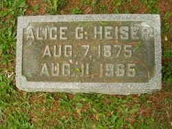 Alice G Heiser