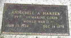 Annabell <I>Adams</I> Harper