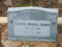 "Georgia ""Tince"" <I>Boswell</I> Brown"