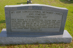 Mount Zion Congregational Methodist Cemetery