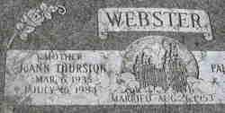 JoAnn <I>Thurston</I> Webster