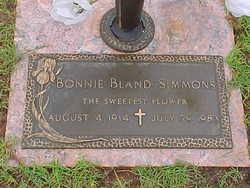 Bonnie Max <I>Bland</I> Simmons