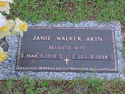Janie <I>Walker</I> Akin