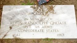 Pvt Rufus Randolph Choate