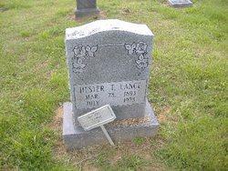 """Lener Hester """"Hester"""" <I>Thompson</I> Lance"""