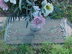 Elizabeth <I>Brantley</I> Maddox
