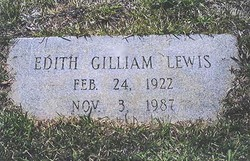Edith Emillie <I>Gilliam</I> Lewis