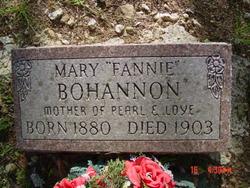 "Mary Frances ""Fannie"" <I>Wilbanks</I> Bohannon"