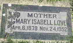 Mary Isabell <I>Jaques</I> Love