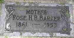 Rose Hannah <I>Bacon</I> Barker
