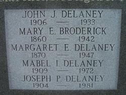 Margaret Elizabeth <I>Broderick</I> Delaney