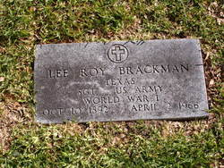 Lee Roy Brackman