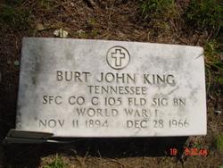 Burt John King