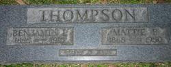 Mattie <I>Faulkner</I> Thompson